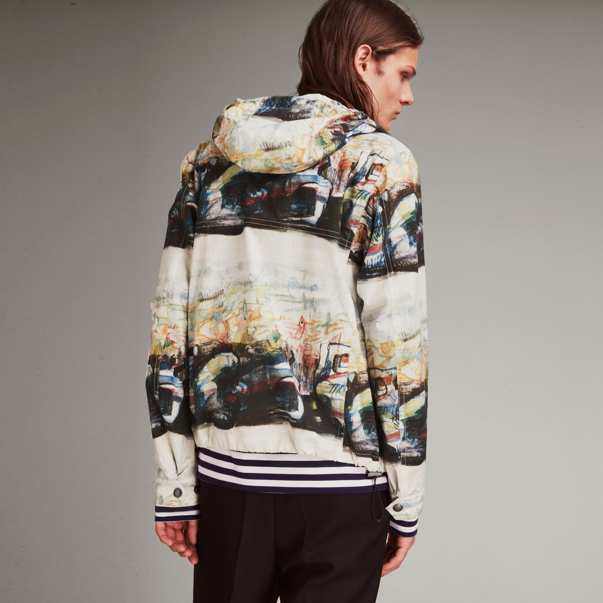 Reclining Figure: Bunched Print Hooded Jacket - gallery image 3