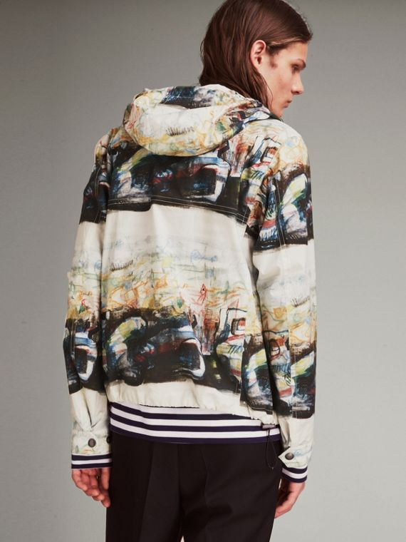 Reclining Figure: Bunched Print Hooded Jacket - cell image 2