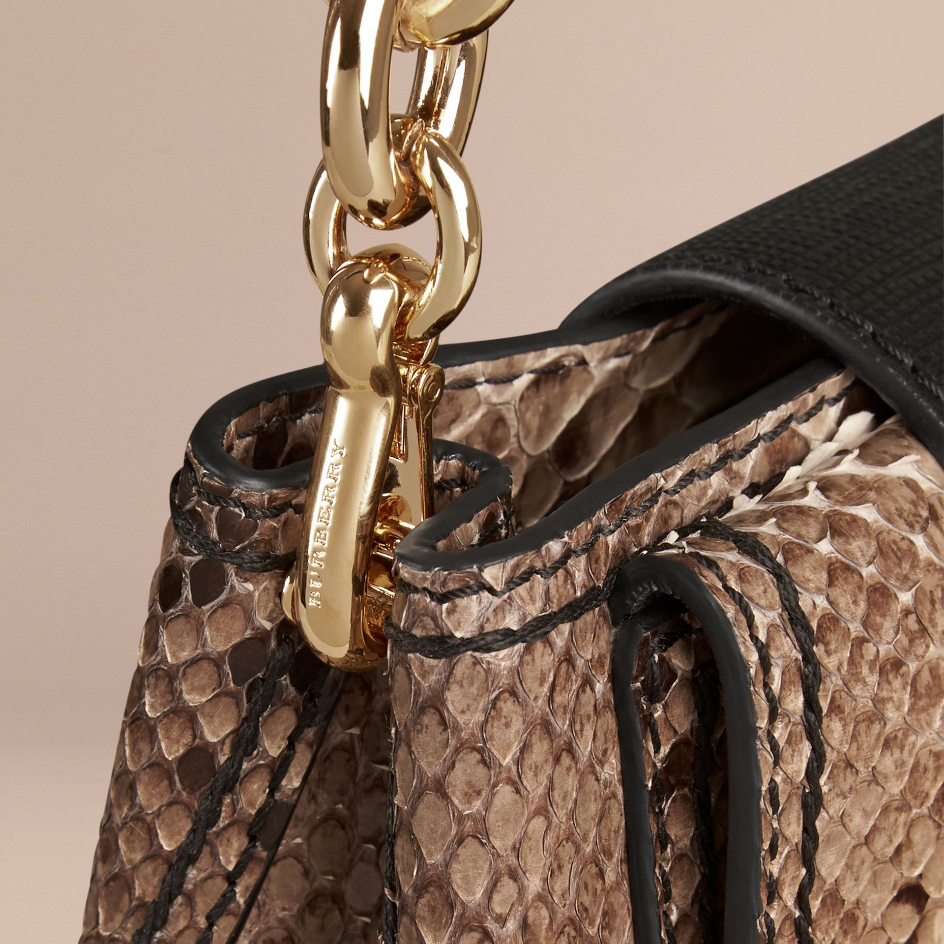The Small Square Buckle Bag in Python Limited Edition - gallery image 6