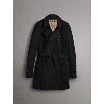 The Sandringham – Mid-length Trench Coat in Black - Men | Burberry ...