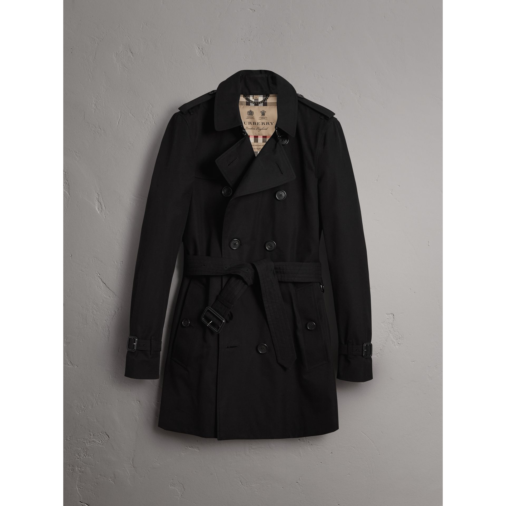 The Sandringham – Mid-length Trench Coat in Black - Men | Burberry ...