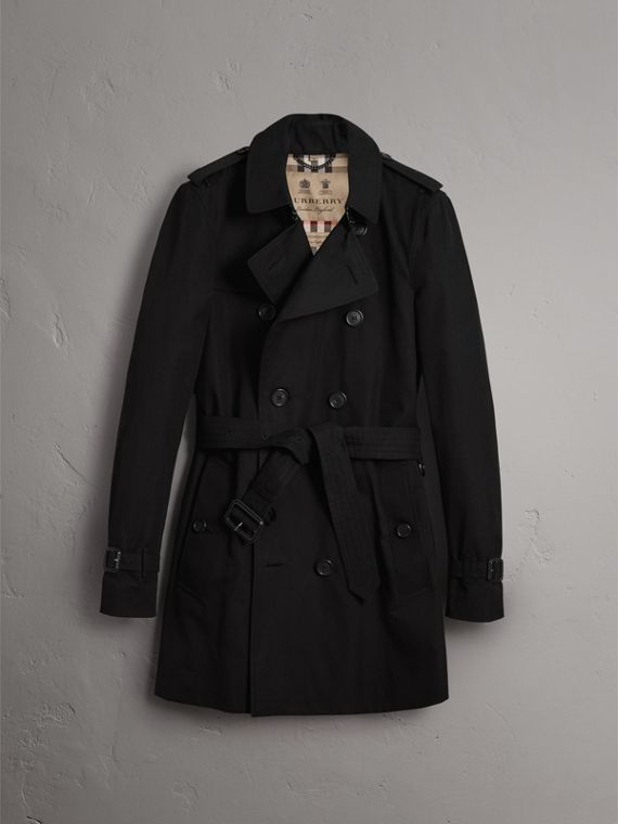 Trench coat Sandringham – Trench coat Heritage de longitud media (Negro) - Hombre | Burberry - cell image 3