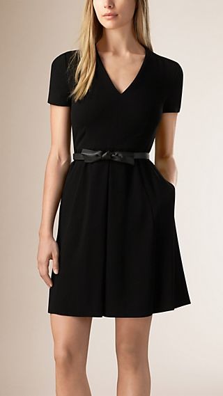 A-line Dress with Leather Belt