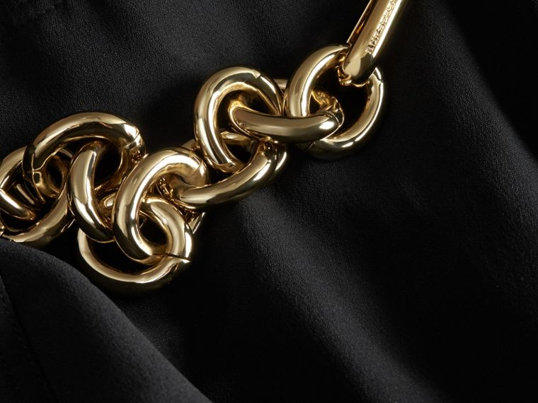 Chain Detail Silk Kilt - cell image 1