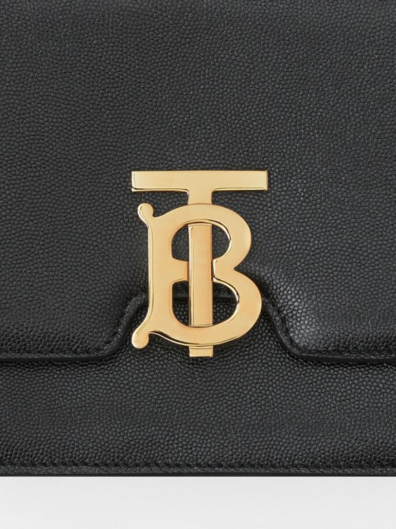 Medium Grainy Leather TB Bag in Black - Women | Burberry Australia - cell image 1
