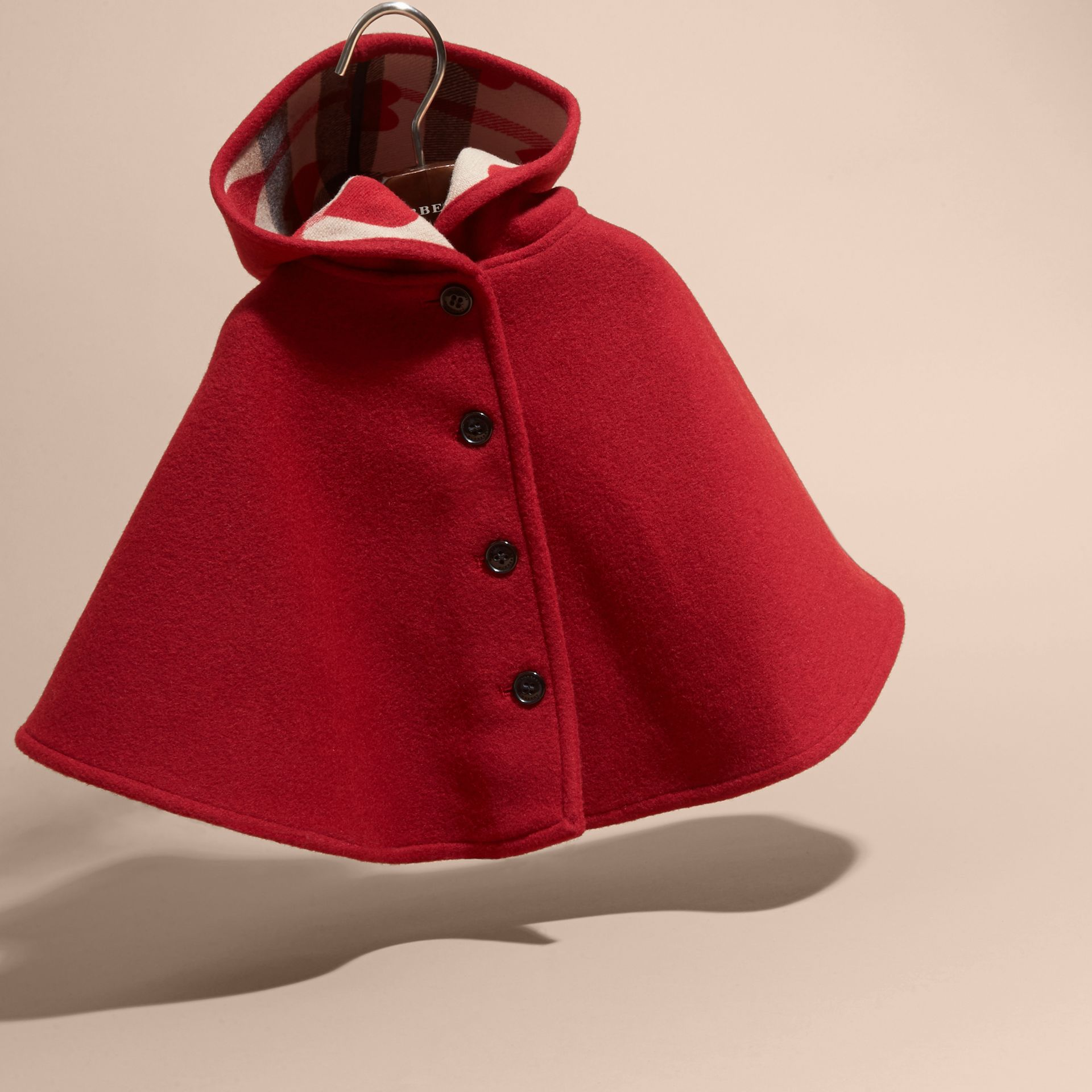 Hooded Wool A-line Cape - gallery image 3