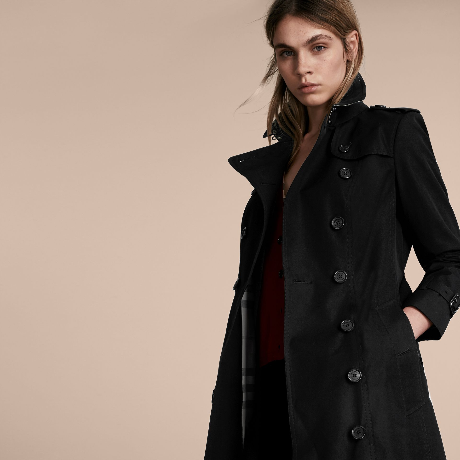 Black The Sandringham – Extra-long Heritage Trench Coat Black - gallery image 7