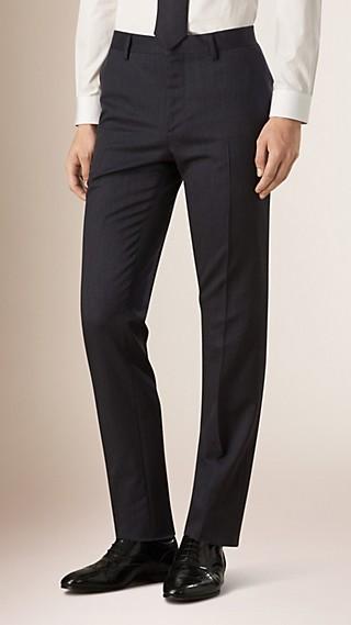 Pantalon de coupe étroite en laine Travel Tailoring