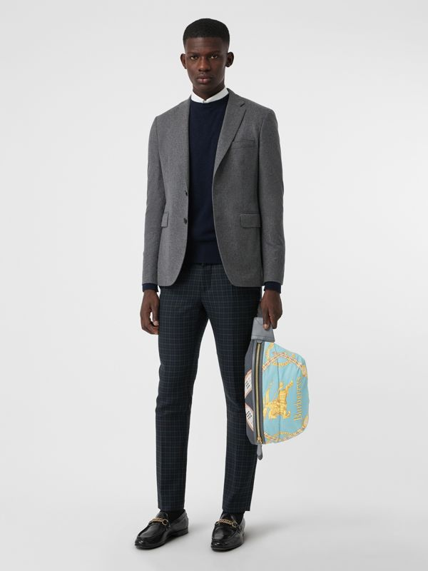 Large Archive Scarf Print Bum Bag in Pale Stone Blue - Men | Burberry - cell image 2