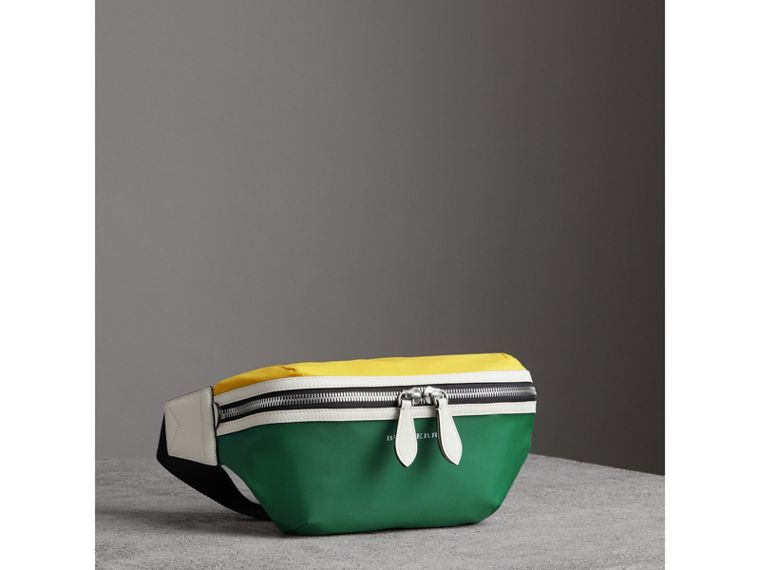 Tri-tone Nylon and Leather Bum Bag in Pine Green | Burberry - cell image 4