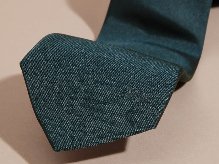 Green/black Modern Cut Silk Twill Tie - cell image 1