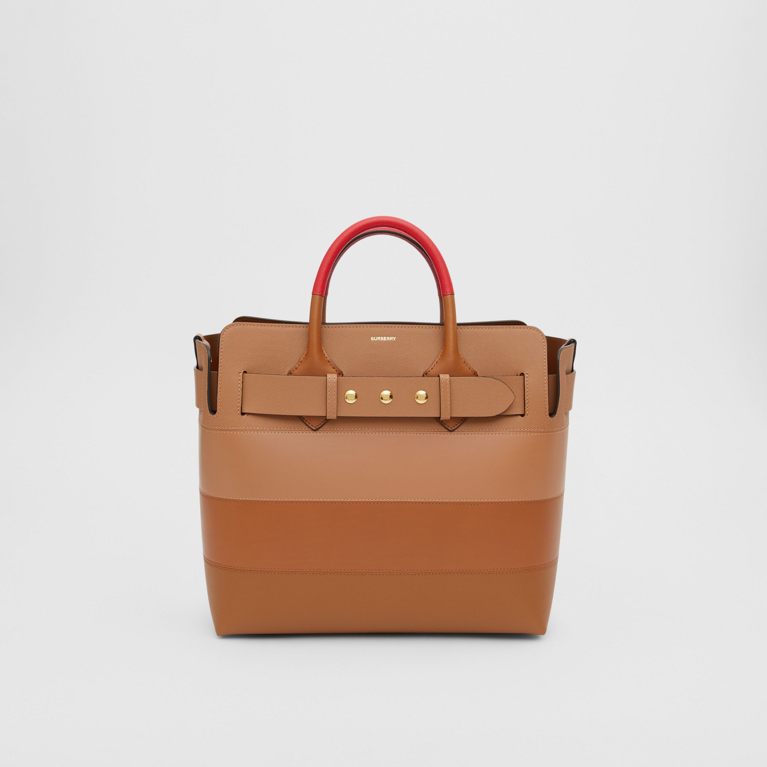 The Medium Panelled Leather Triple Stud Belt Bag in Warm Camel/tan - Women | Burberry Singapore - 1