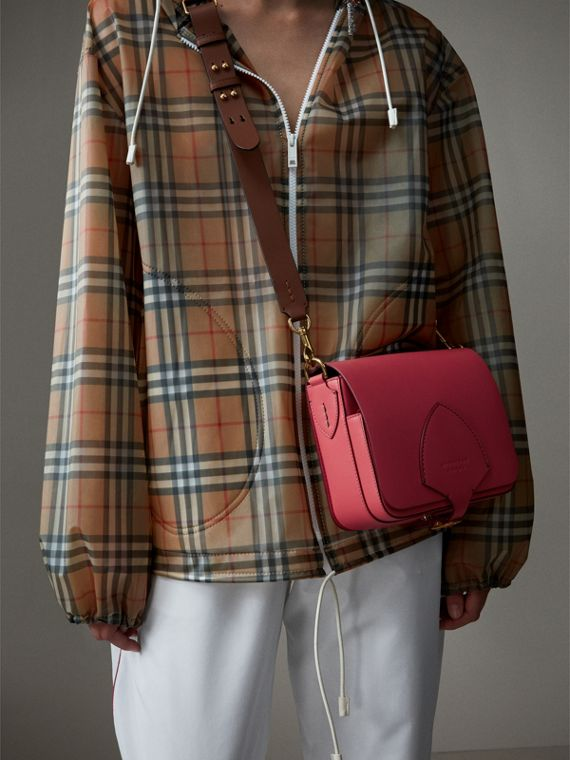 The Square Satchel in Leather in Bright Peony - Women | Burberry Canada - cell image 2