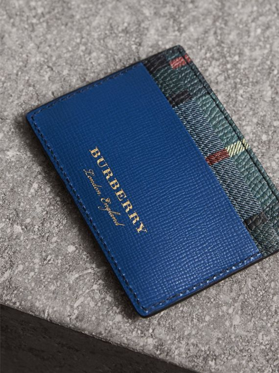 Creature Appliqué Leather Card Case in Deep Blue | Burberry - cell image 2