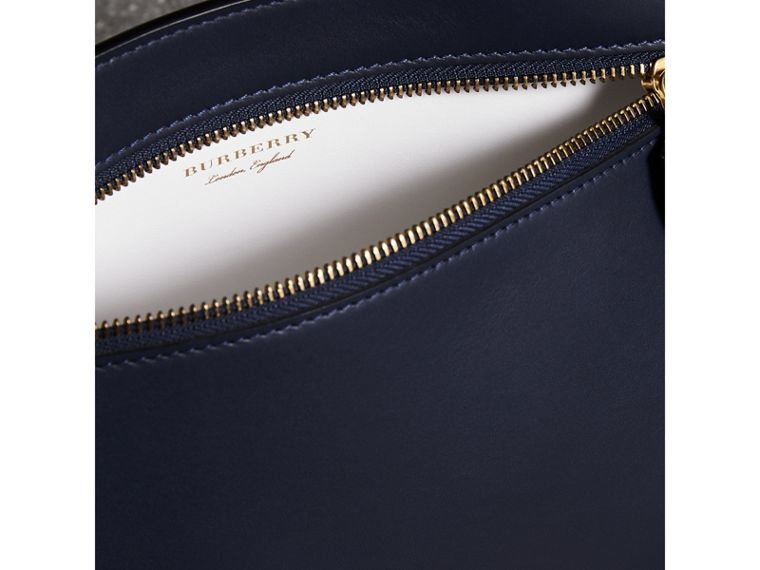 Leather Wristlet Clutch in Mid Indigo - Women | Burberry United States - cell image 1
