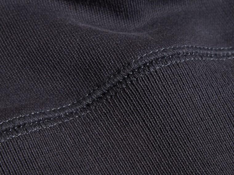 Dark navy Equestrian Knight Detail Cotton Sweatshirt Dark Navy - cell image 1