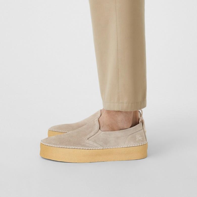 Burberry - Zapatillas deportivas sin cordones en ante - 3