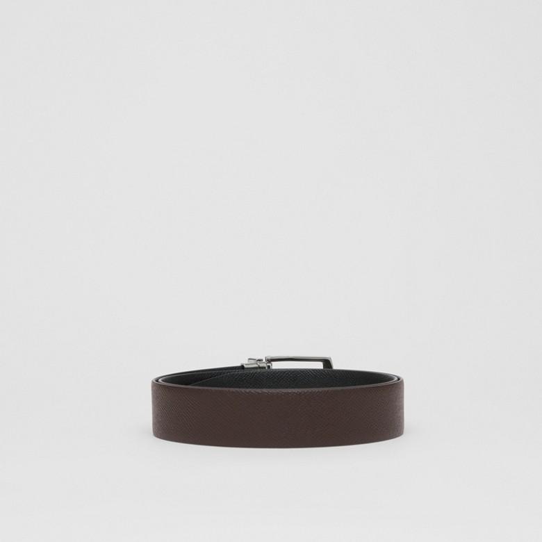 Burberry - Cinturón reversible en piel granulada - 5