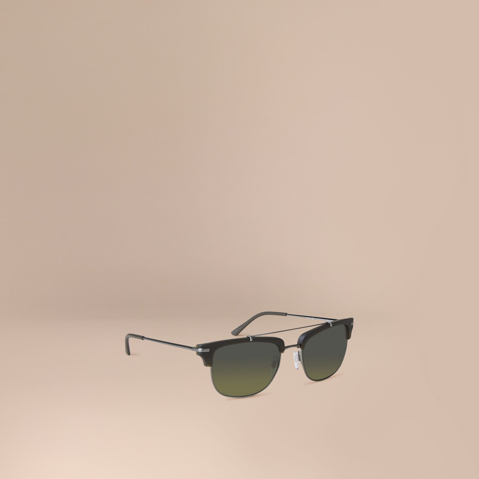 Square Frame Sunglasses Olive - gallery image 1