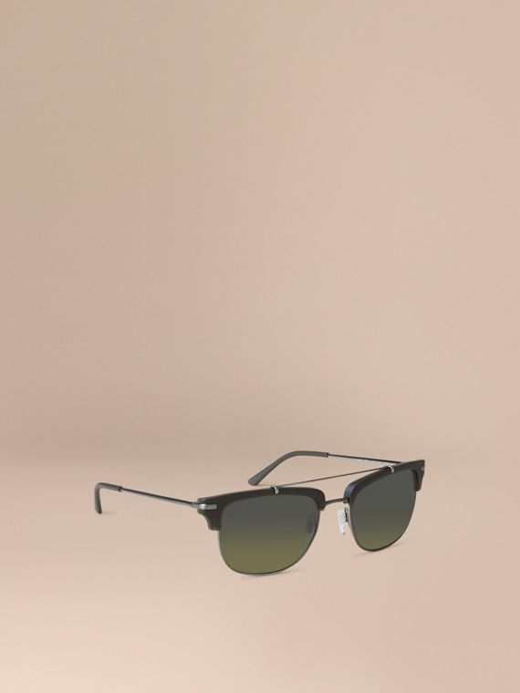 Square Frame Sunglasses Olive