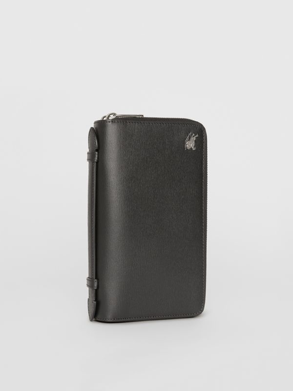 Leather Travel Wallet in Black - Men | Burberry Singapore - cell image 3