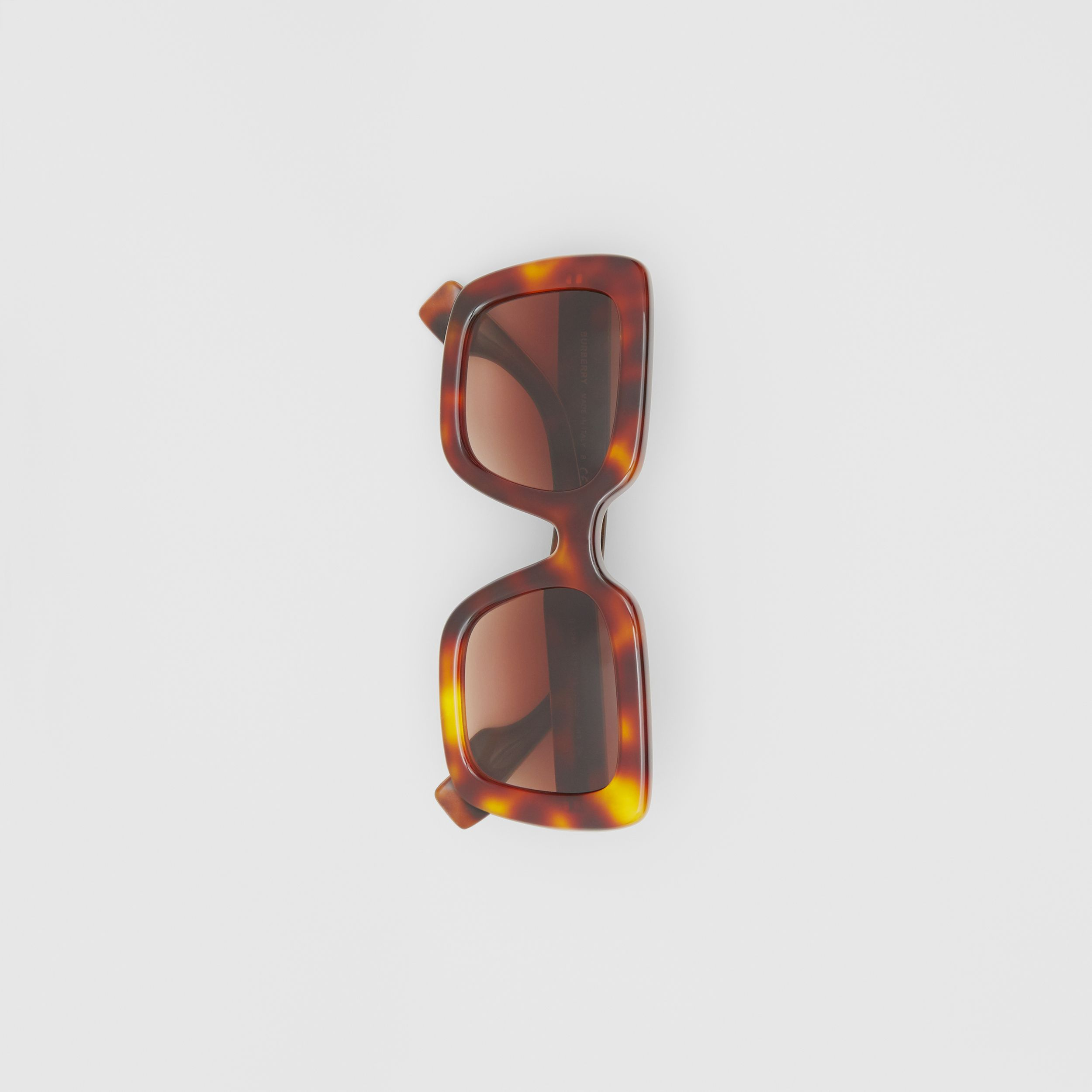 Oversized Square Frame Sunglasses in Tortoiseshell - Women | Burberry Singapore - 3