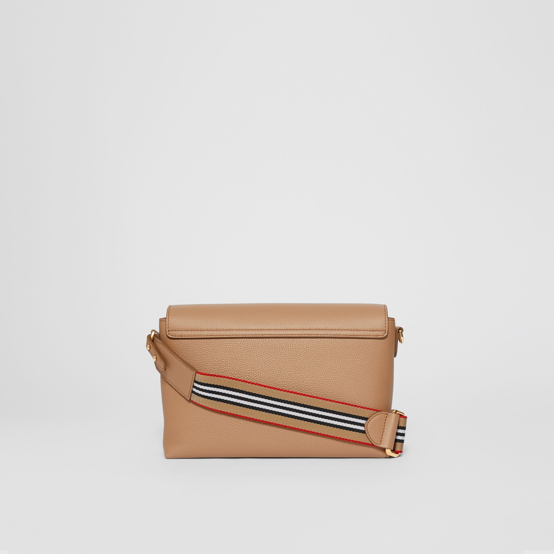 Grainy Leather Note Crossbody Bag in Camel - Women | Burberry - gallery image 7