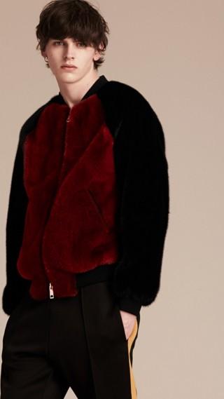 Mink Bomber Jacket