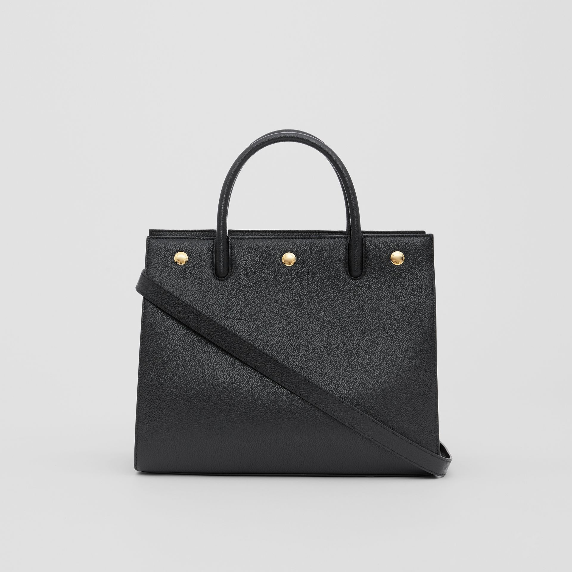 Small Leather Two-handle Title Bag in Black - Women | Burberry Canada - gallery image 7