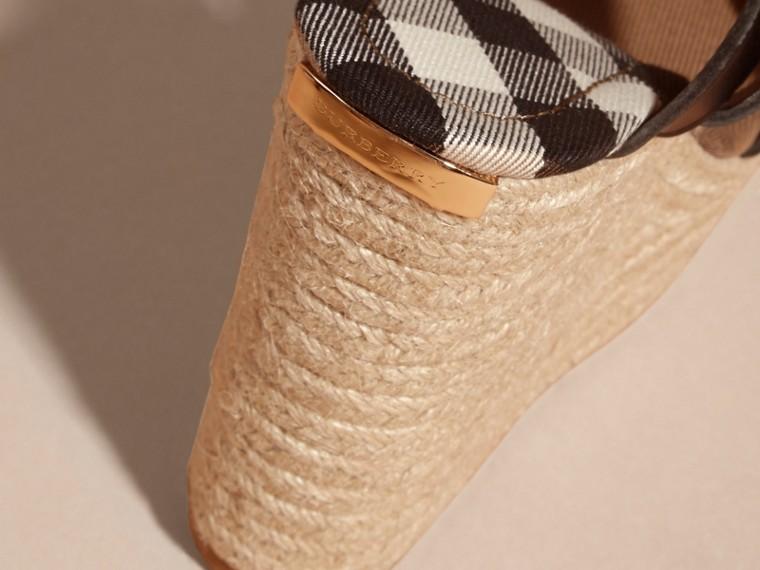 Leather Platform Espadrille Wedge Sandals - cell image 1