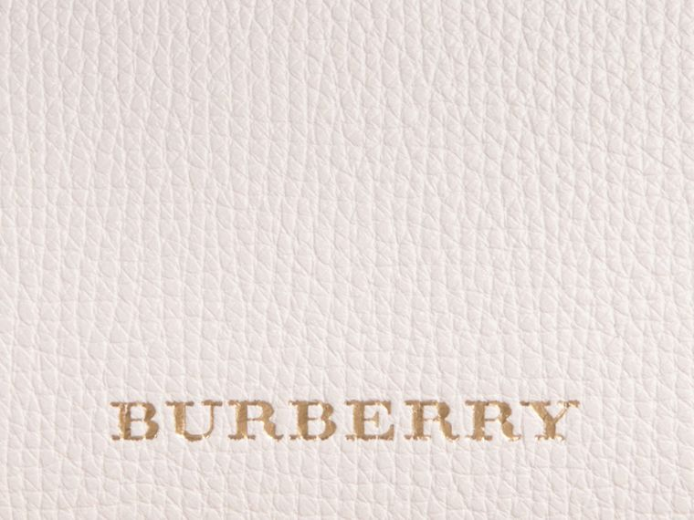 The Small Banner in Leather and House Check in Natural - Women | Burberry - cell image 1