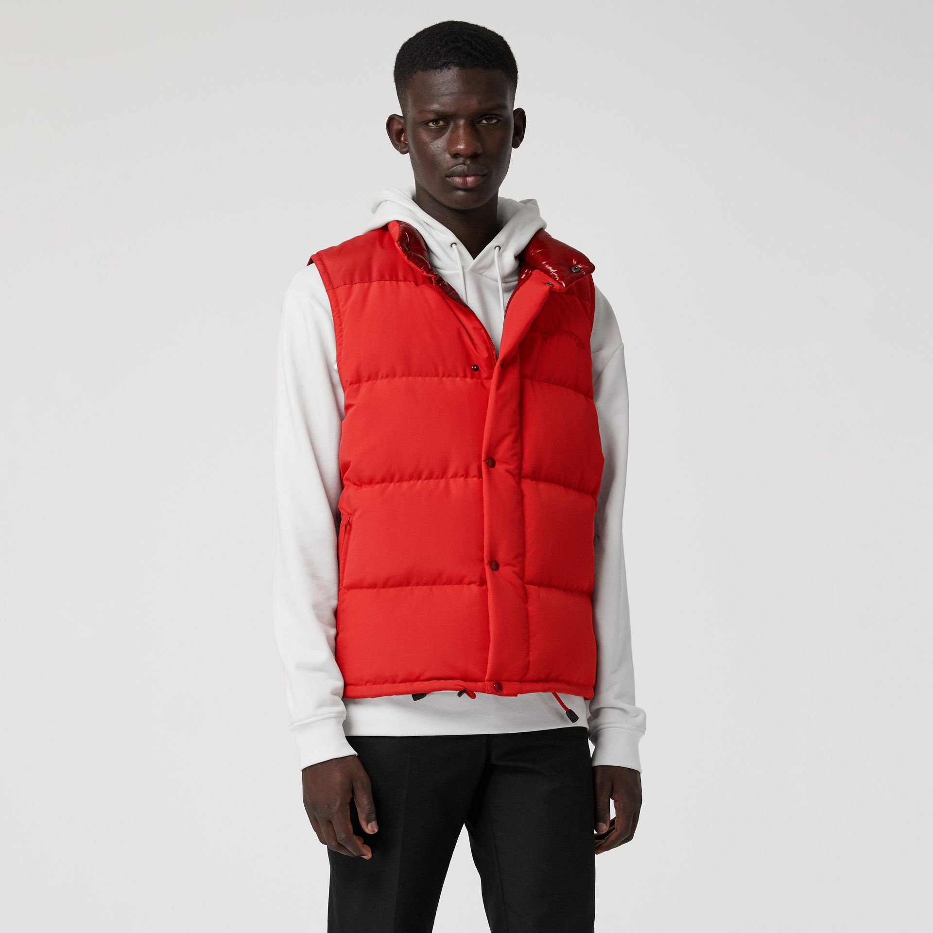 Detachable-sleeve Down-filled Puffer Jacket in Bright Red - Men | Burberry - gallery image 4