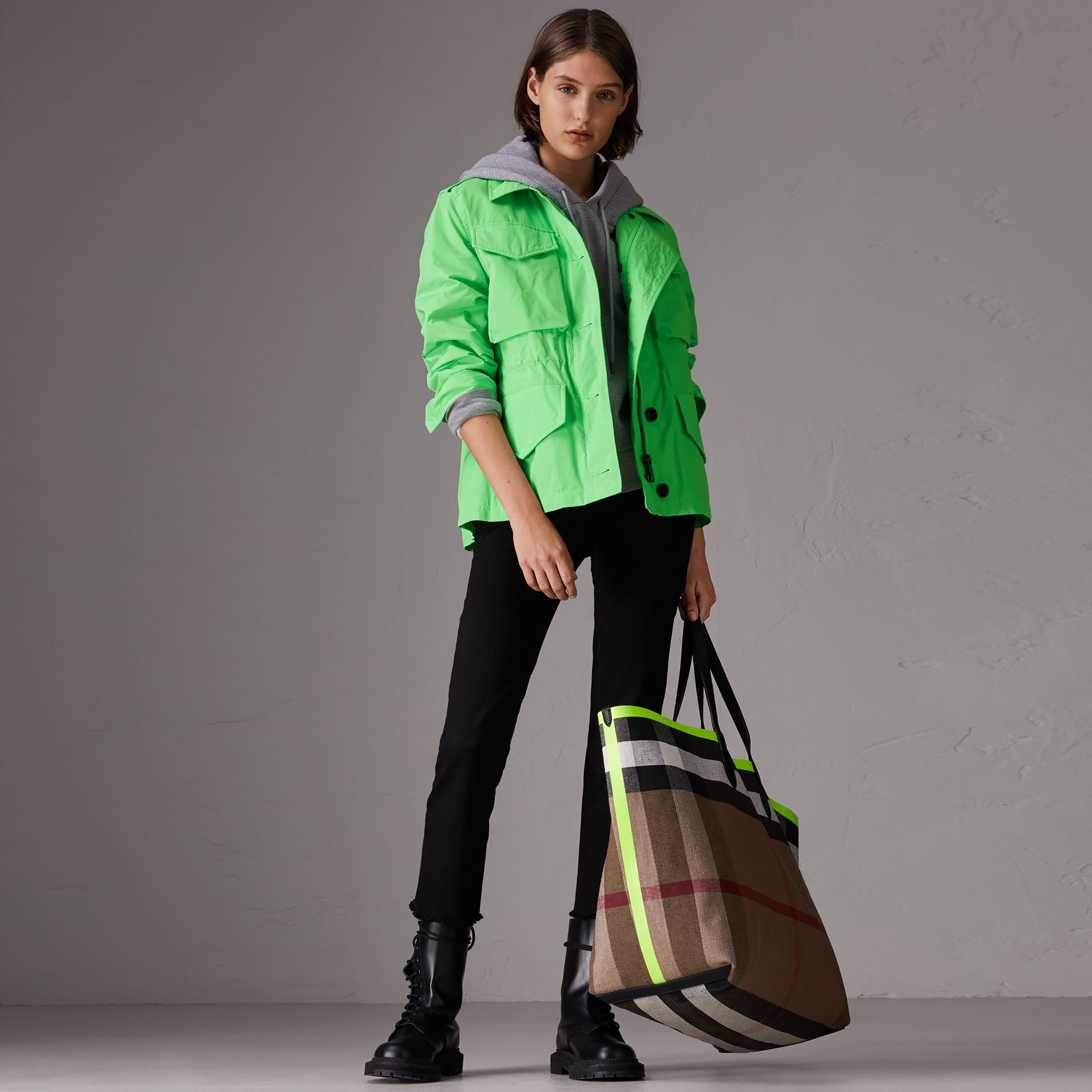 Taffeta Field Jacket in Neon Green - Women | Burberry - gallery image 0