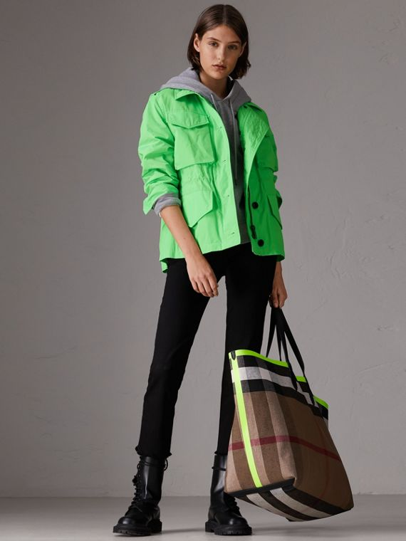 Taffeta Field Jacket in Neon Green