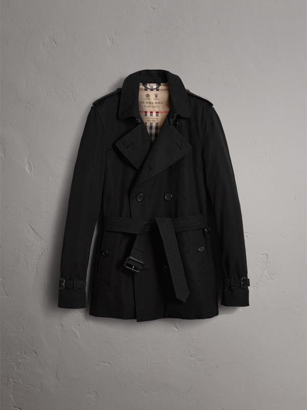 The Kensington – Short Trench Coat in Black - Men | Burberry Singapore - cell image 3
