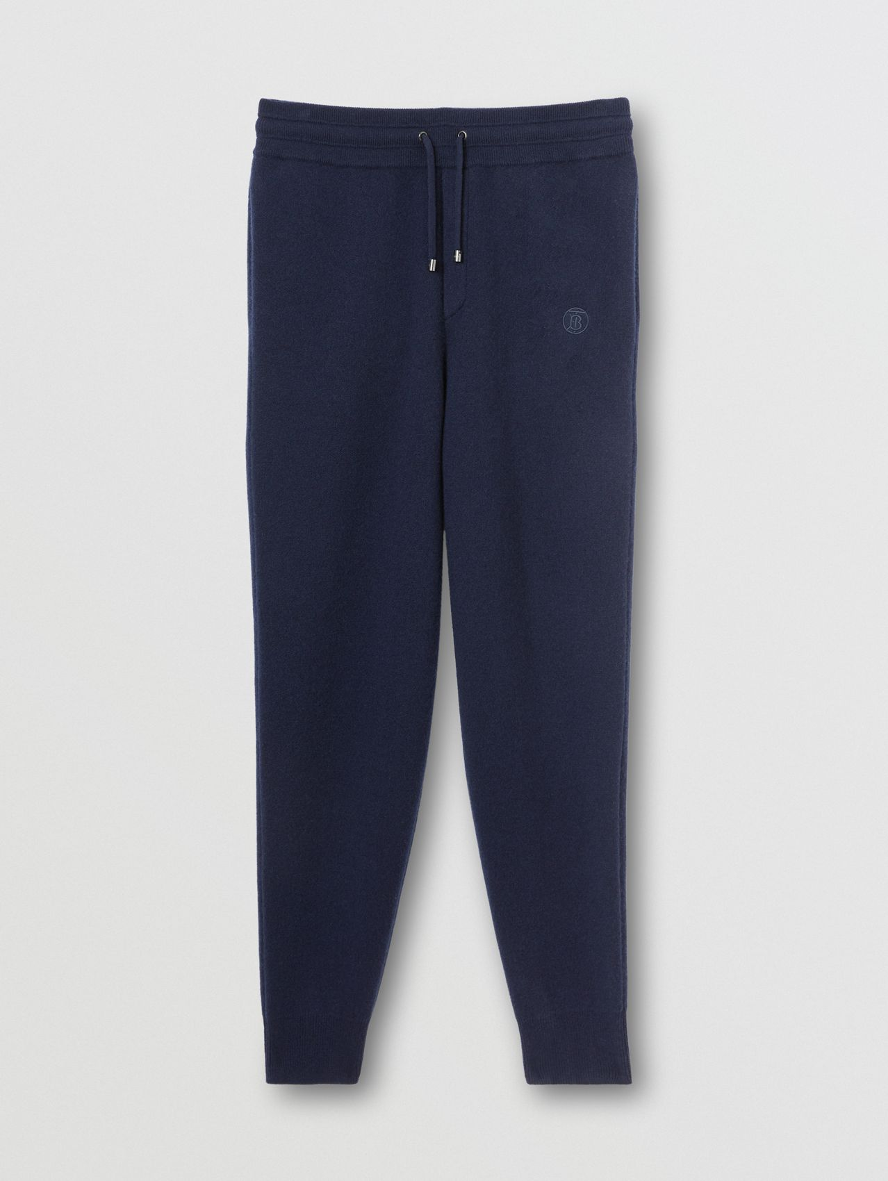 Monogram Motif Cashmere Blend Jogging Pants in Navy