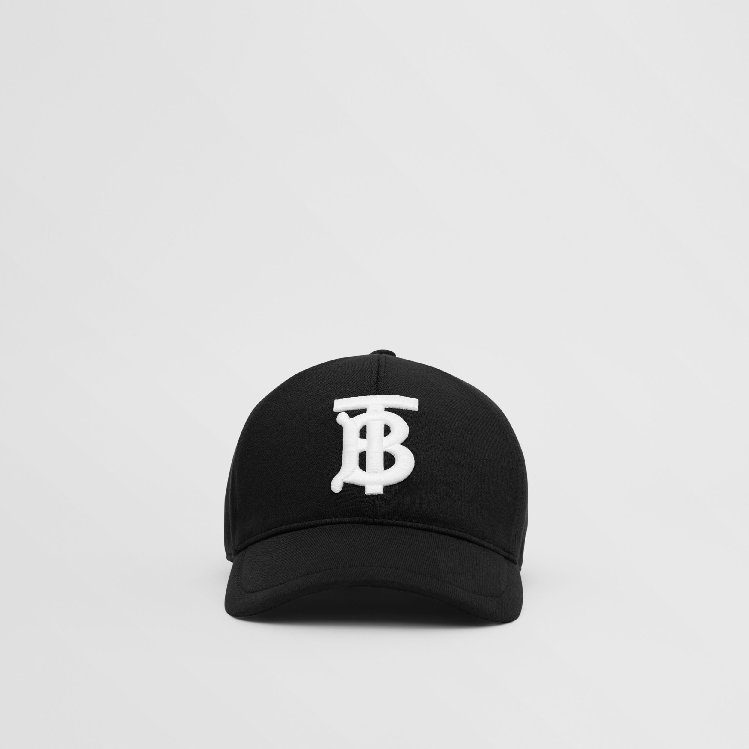 Monogram Motif Cotton Jersey Baseball Cap in Black | Burberry - 1