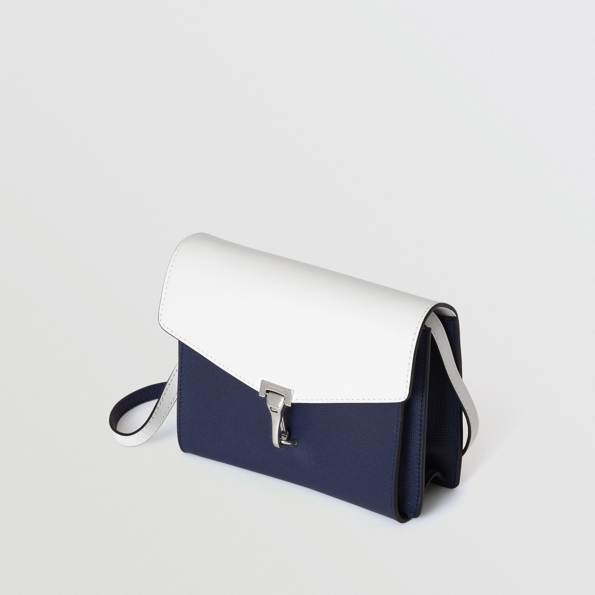 Two-tone Leather Crossbody Bag in Regency Blue/chalk White - Women | Burberry - gallery image 4
