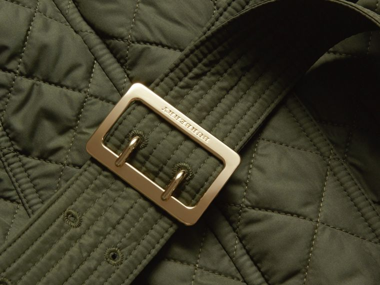 Buckle Detail Technical Field Jacket in Military Green - cell image 1