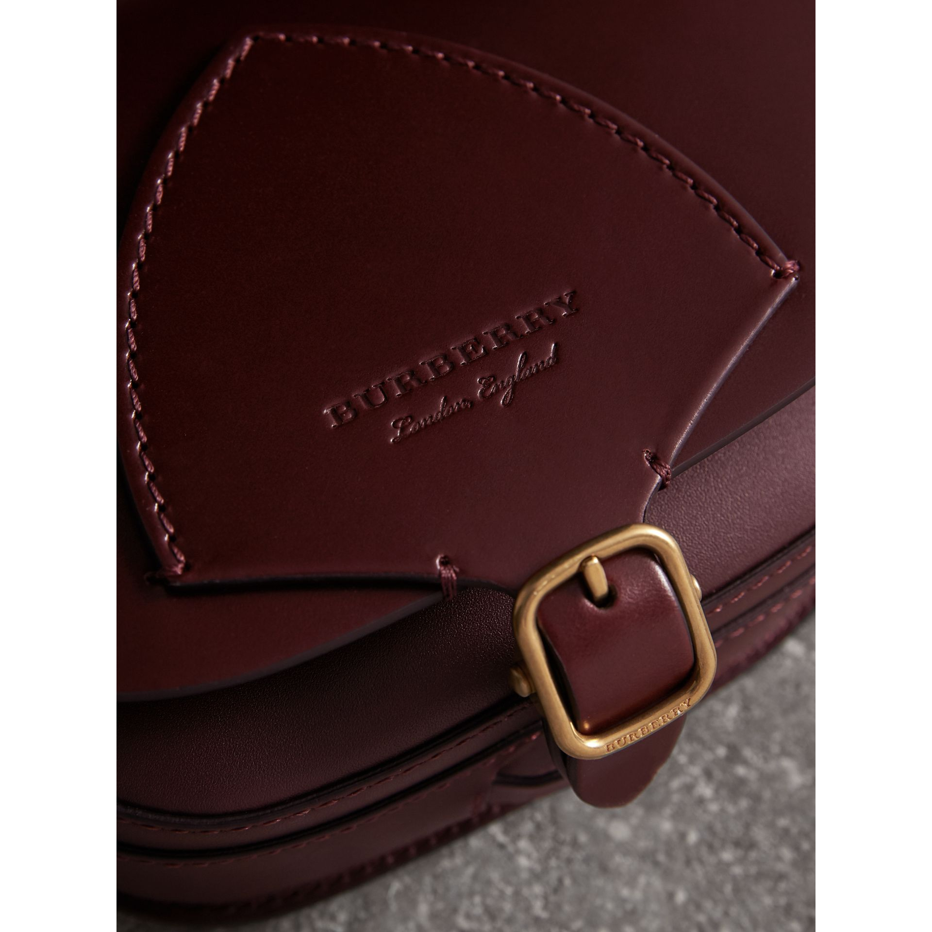The Satchel in Bridle Leather in Deep Claret - Women | Burberry - gallery image 2