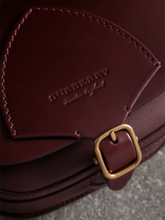 The Satchel in Bridle Leather in Deep Claret - Women | Burberry Australia - cell image 1