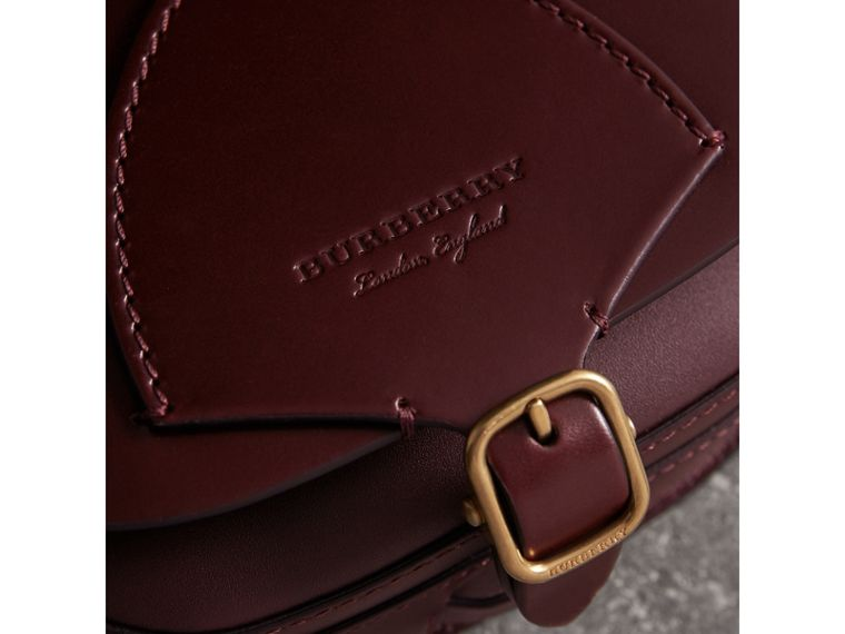 The Satchel in Bridle Leather in Deep Claret - Women | Burberry - cell image 1