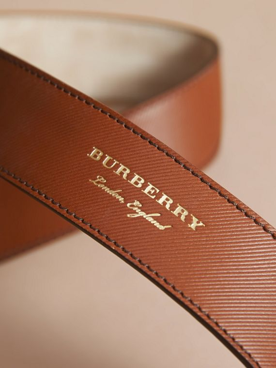 Two-tone Trench Leather Belt in Tan - Men | Burberry - cell image 3