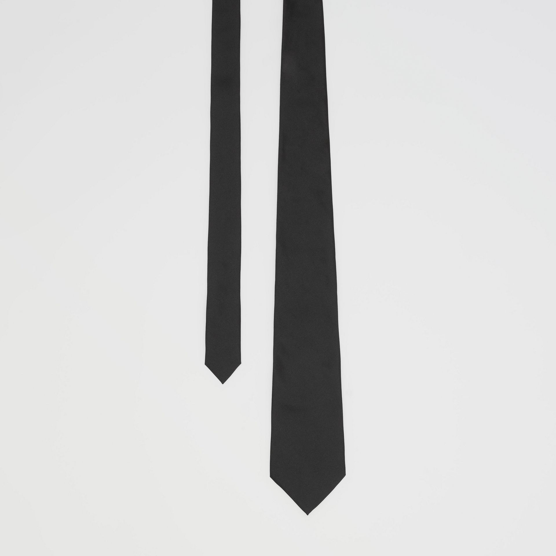 Classic Cut Silk Tie in Black - Men | Burberry - gallery image 0