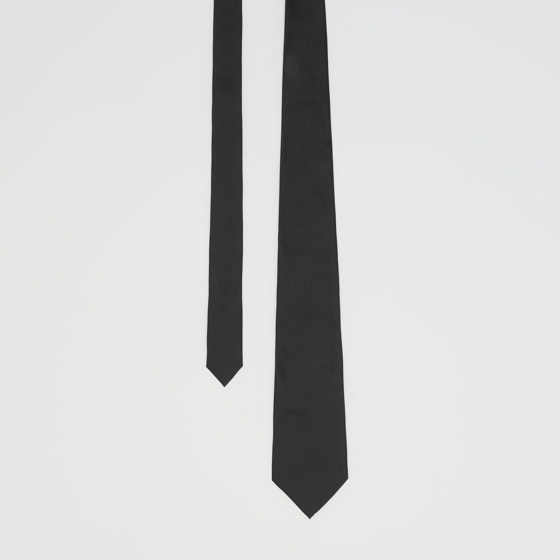 經典剪裁絲質領帶 (黑色) - 男款 | Burberry - 圖庫照片 0