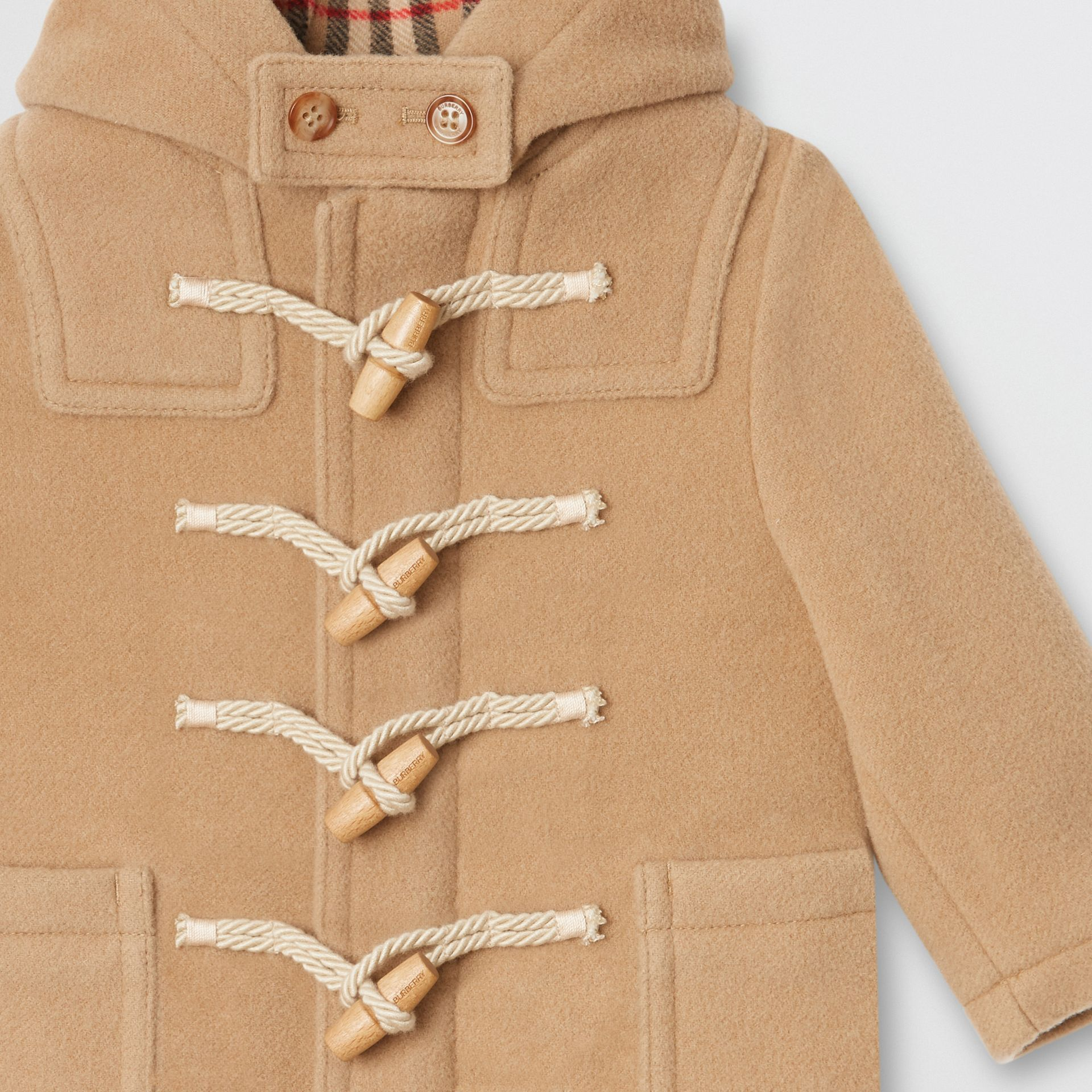 Boiled Wool Duffle Coat in Archive Beige | Burberry Australia - gallery image 5