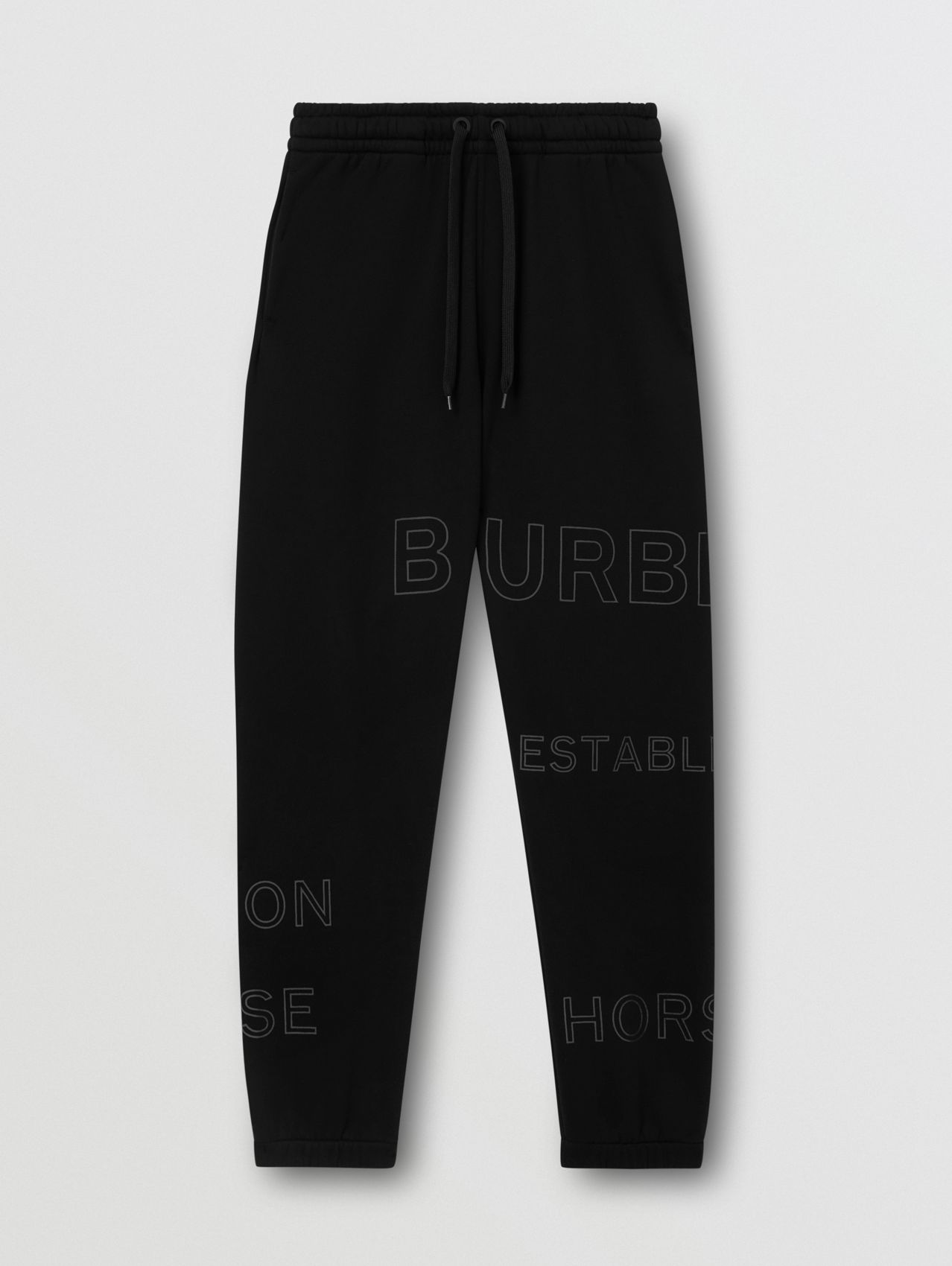 Pantalon de survêtement en coton Horseferry in Noir