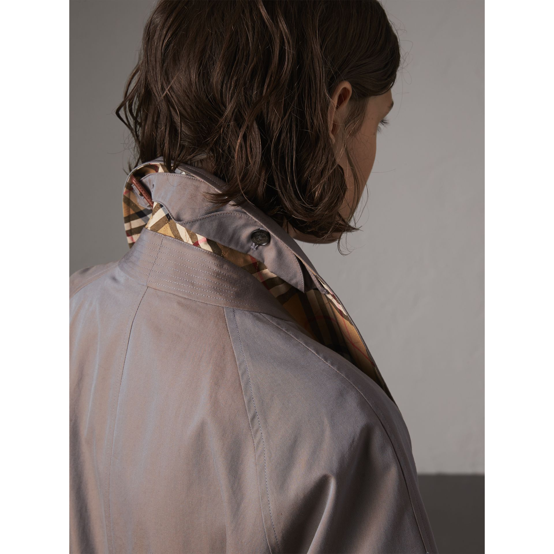 Car Coat The Brighton (Gris Lilas) - Femme | Burberry - photo de la galerie 1