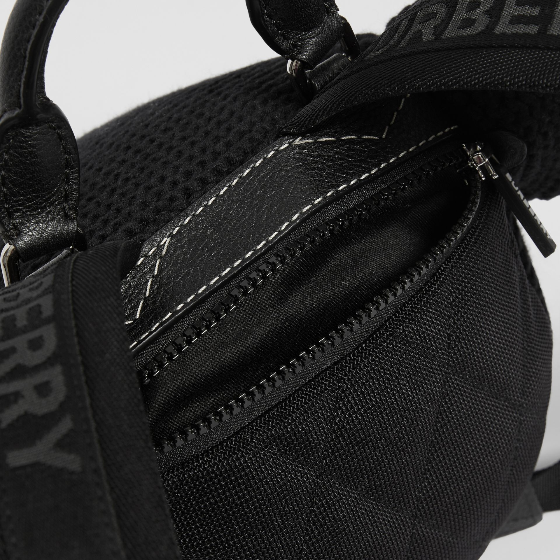Thomas Bear Knit Cotton Backpack in Black - Children | Burberry - gallery image 1