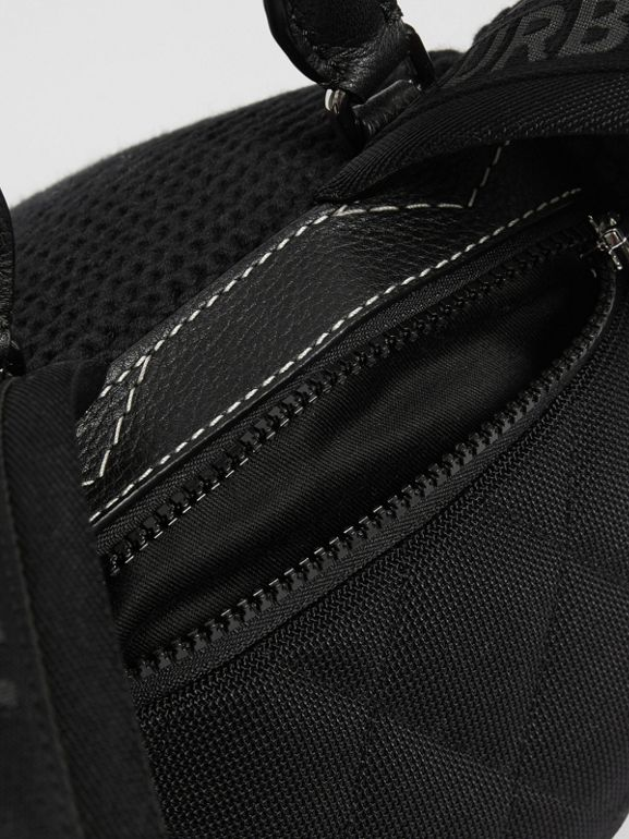 Thomas Bear Knit Cotton Backpack in Black - Children | Burberry Australia - cell image 1